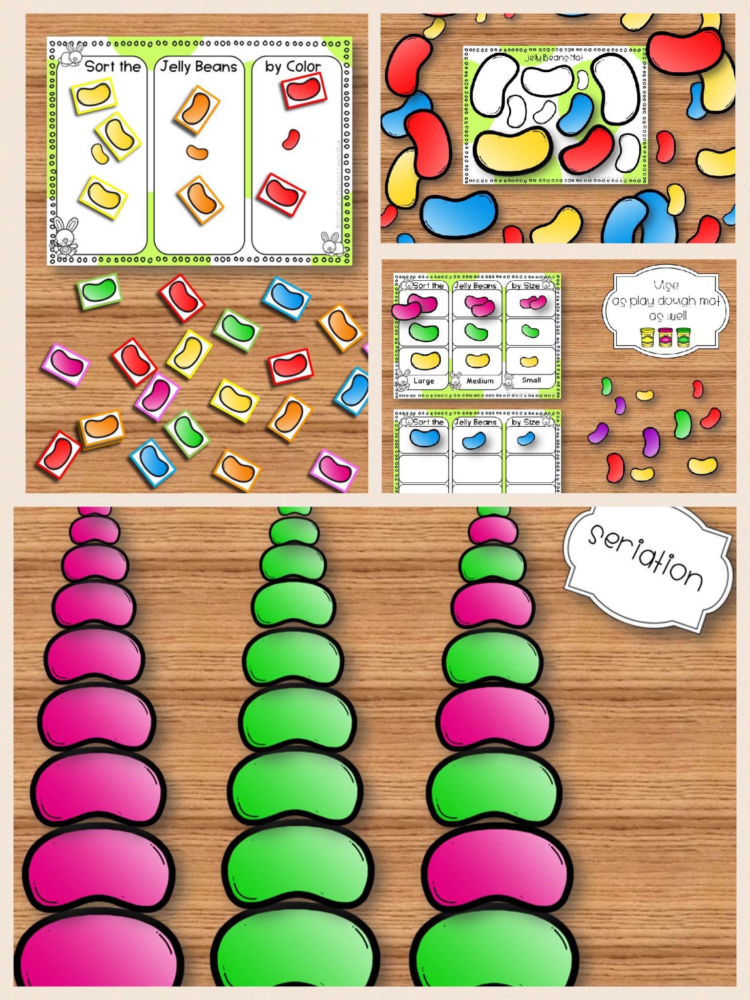 Jelly Beans Play Dough Mats Pre Math Amp Math Toddlers