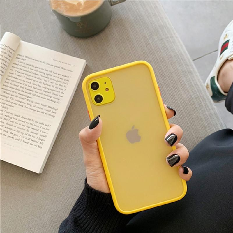Mint hybrid simple matte bumper phone case for iphone 11