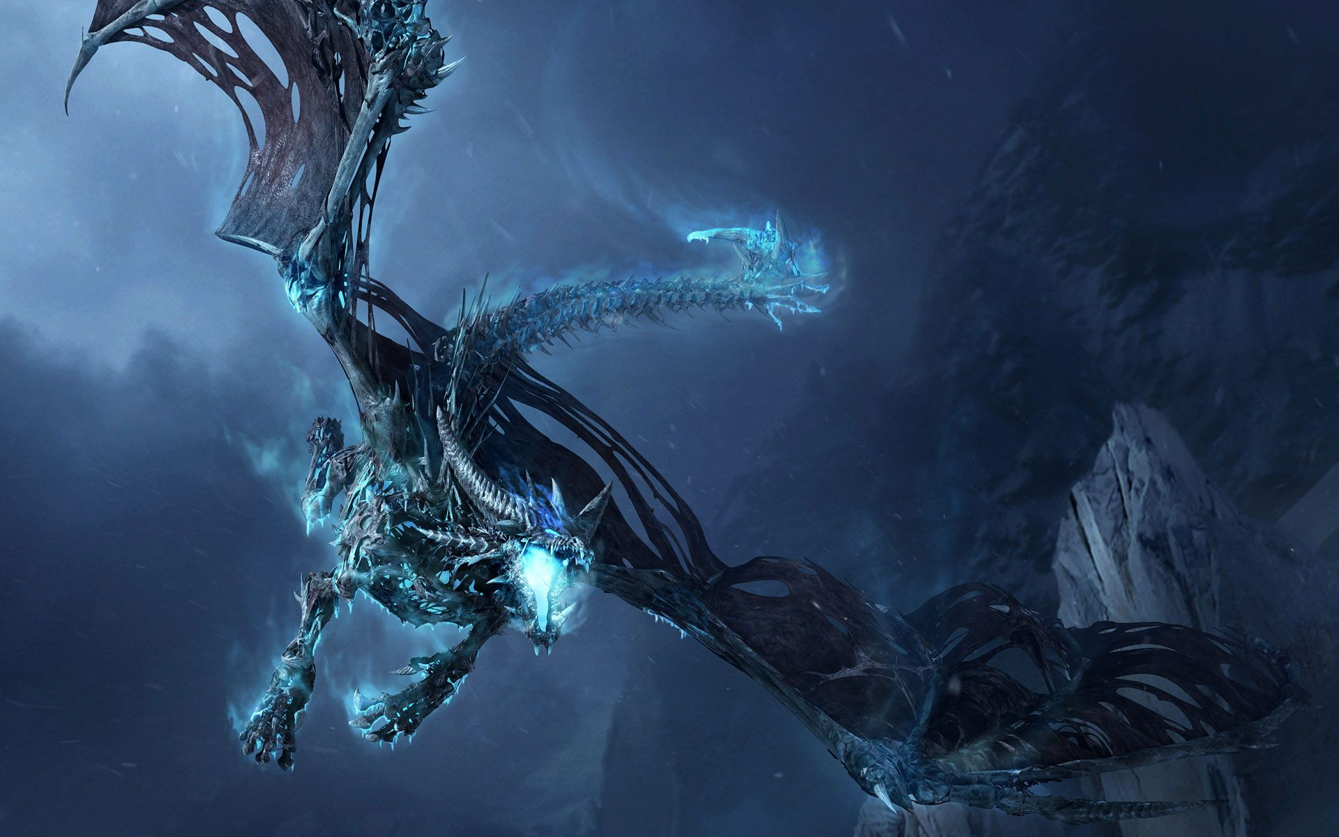 Mountain Dragon | Dragon » Frost-Dragon-Widescreen-Wallpaper