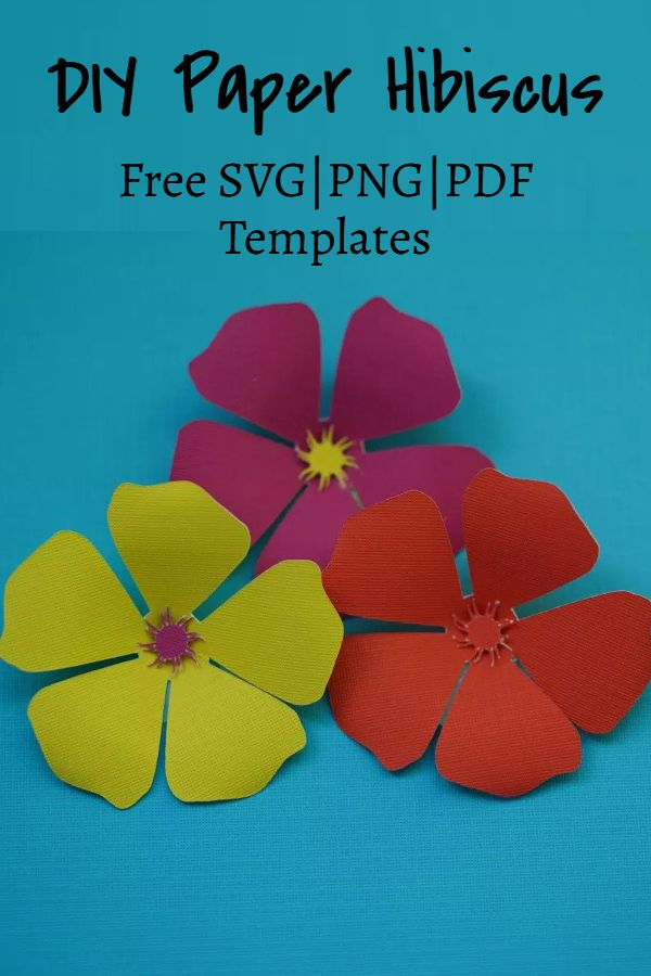 hawaiian hibiscus paper flowers template