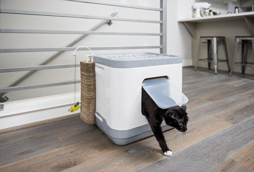 Covered Cat Litter Box Removable Hooded Top Cover For Easy