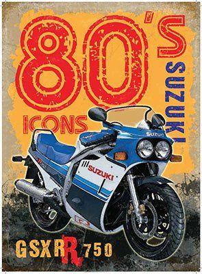 Original Metal Signs Co  'GSXR 750 Suzuki' Graphic Art Print