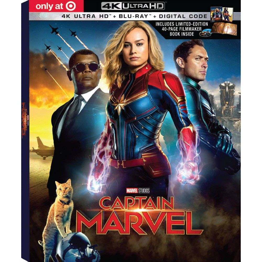 Captain Marvel Target Exclusive 4k Uhd Blu Ray Digital