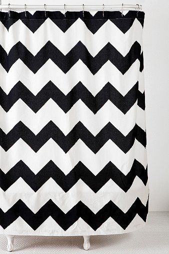Chevron Zigzag Shower Curtain Online Only Urban Outfitters