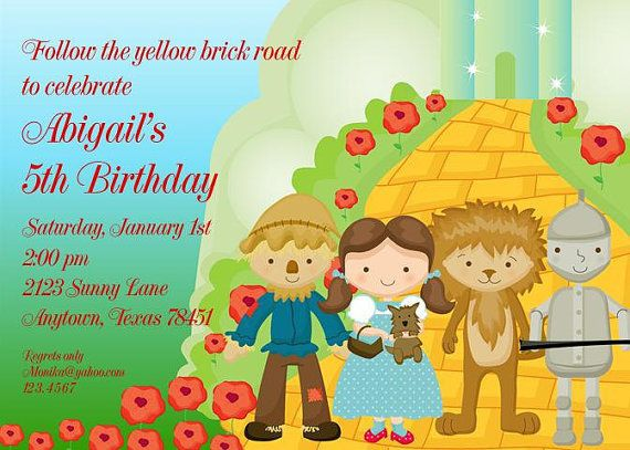 Wizard of Oz Birthday Party Invitations with by PaperMonkeyCompany – Wizard of Oz Birthday Party Invitations