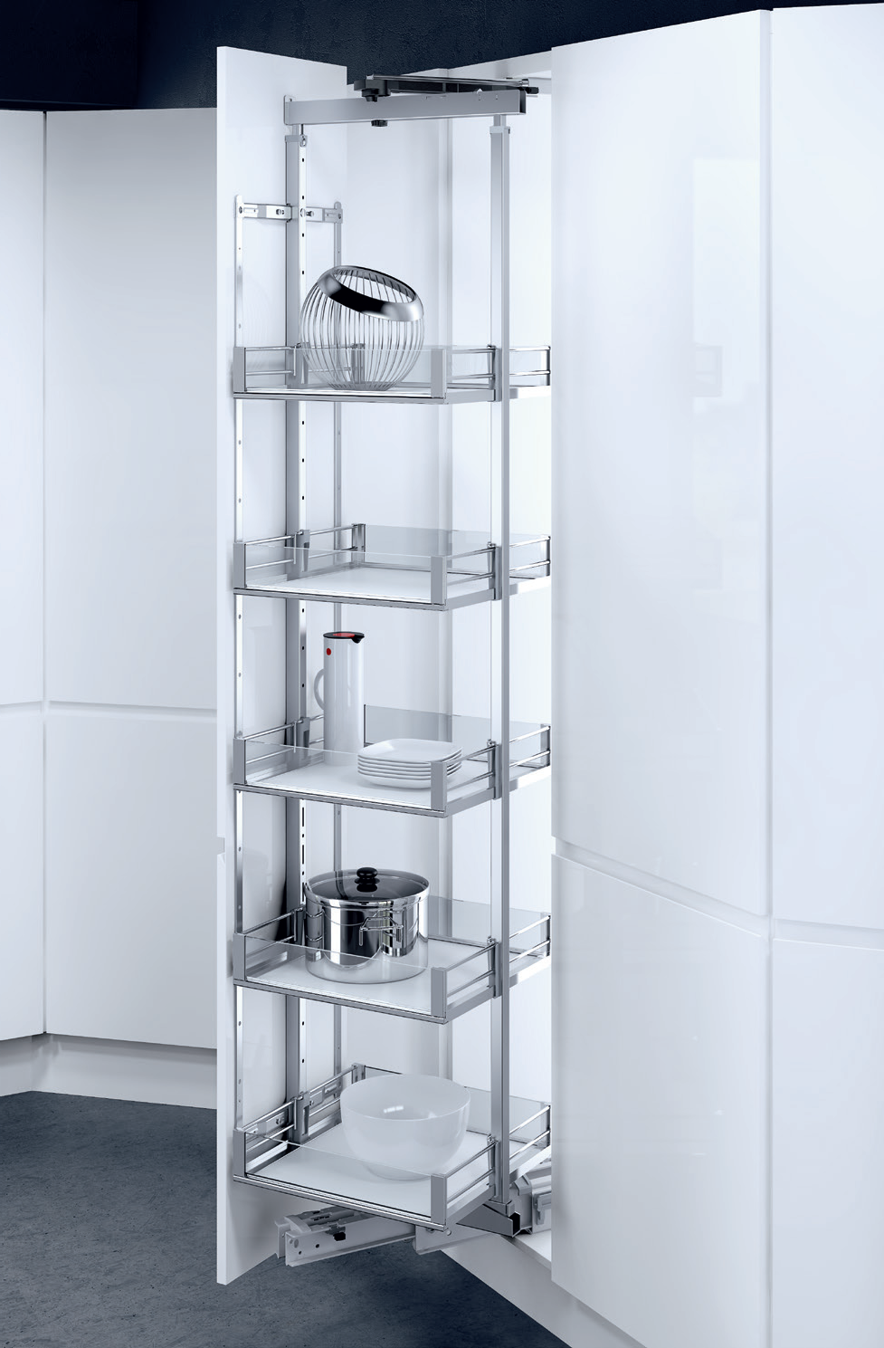 Pantry pull-out HSA Rotary, Available basket variants: Premea and ...