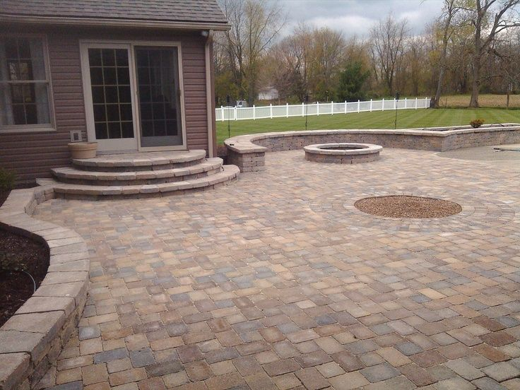 patio+wuth+Ashland+stone | Paver patio, sitting walls ...