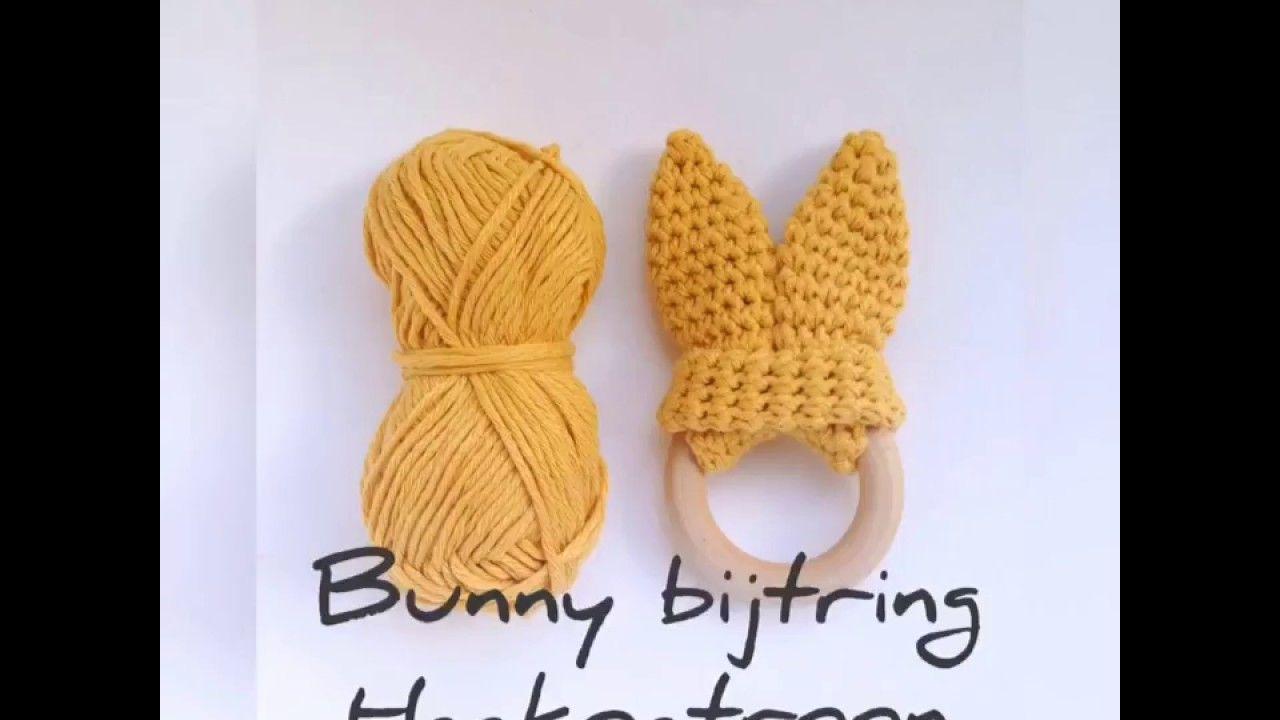 Bunny Oren Bijtring Haken Eenvoudig Stap Voor Stap Haakpatroon