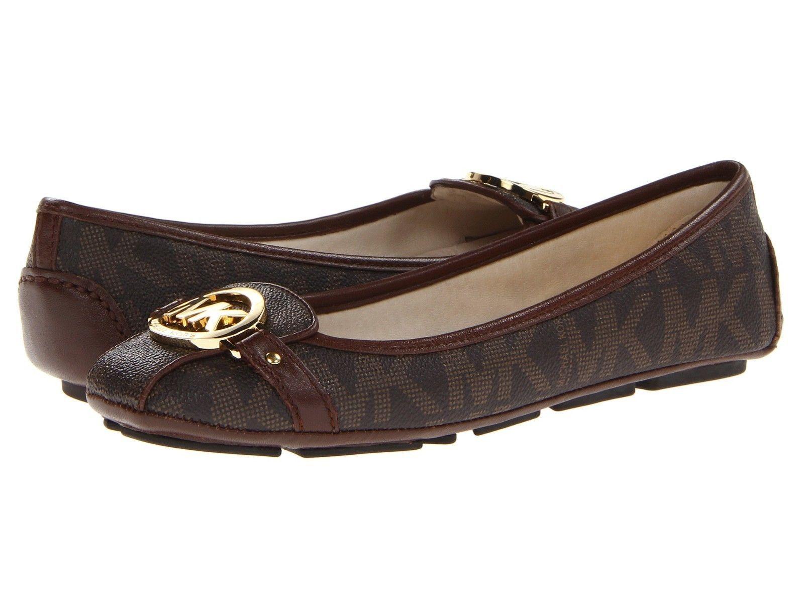 Ballet Flats Ballerina Shoes for Women On Sale, Fulton Moc, Leopard, Fur, 2017, 4 Michael Kors