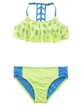 07428979f82 Pineapple Flounce Bikini Swimsuit