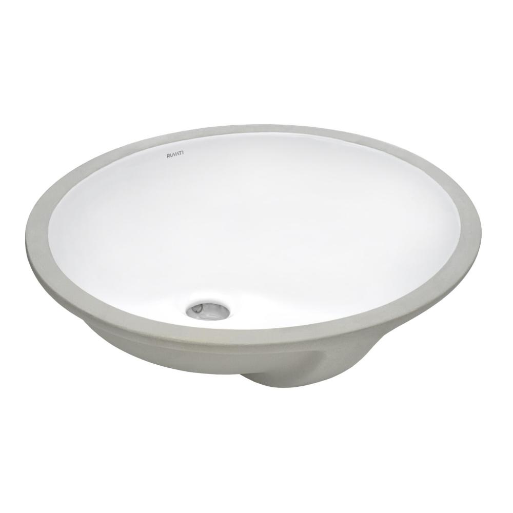 16 X 13 Inch Undermount Bathroom Sink White Oval Porcelain Ceramic