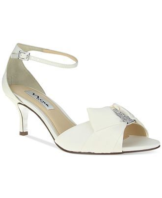 Nina Cyprian Mid Heel Evening Sandals Evening Bridal Shoes Macy S Evening Sandals Ivory Wedding Shoes Shoes