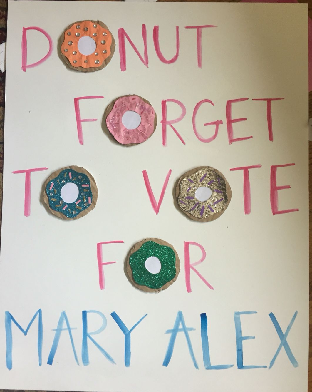 Cute SGA campaign poster. Donut forget to vote!! | yes ...