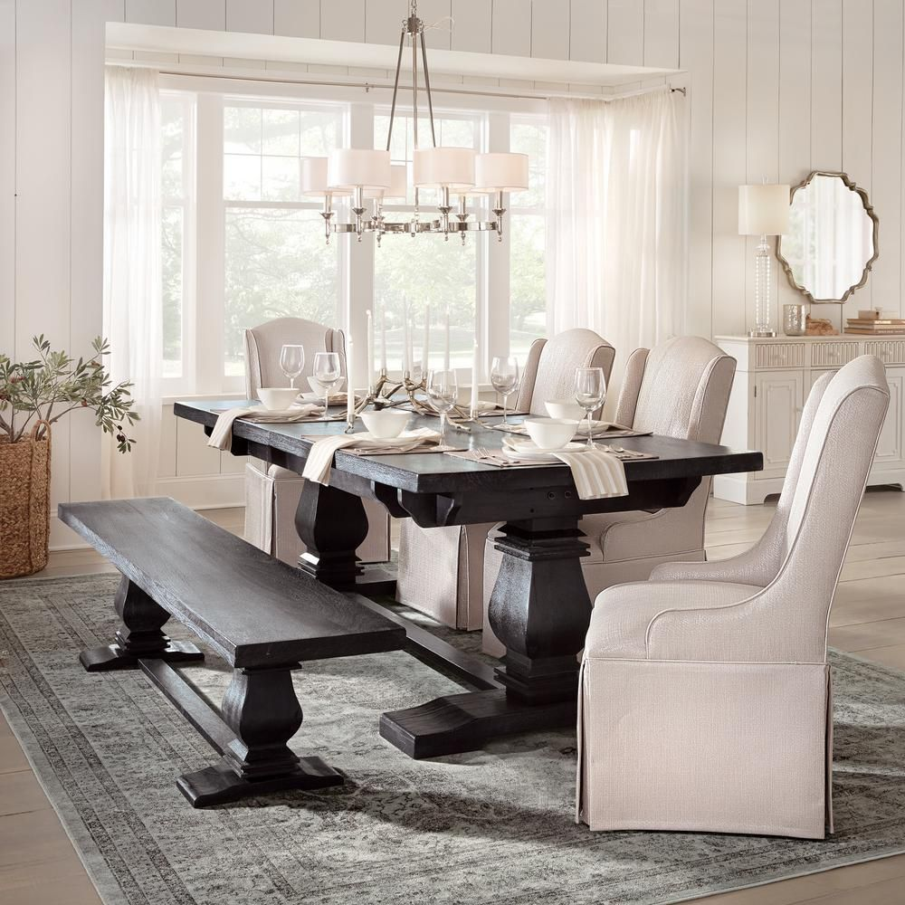 Aldridge Washed Black Extendable Dining Table In 2020 Dining