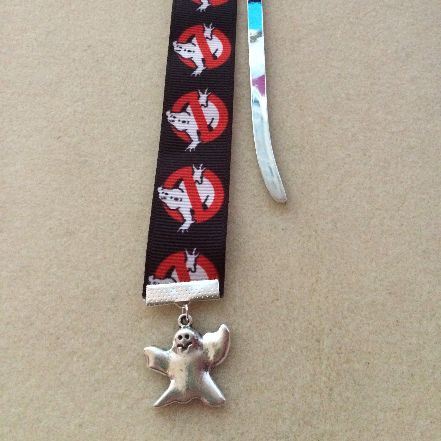 Hand-crafted Ghostbusters Logo inspired bookmarks now available.