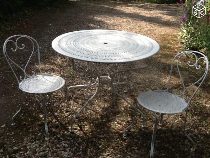 Table De Jardin Blanche | Mobilier Des Fées | Pinterest