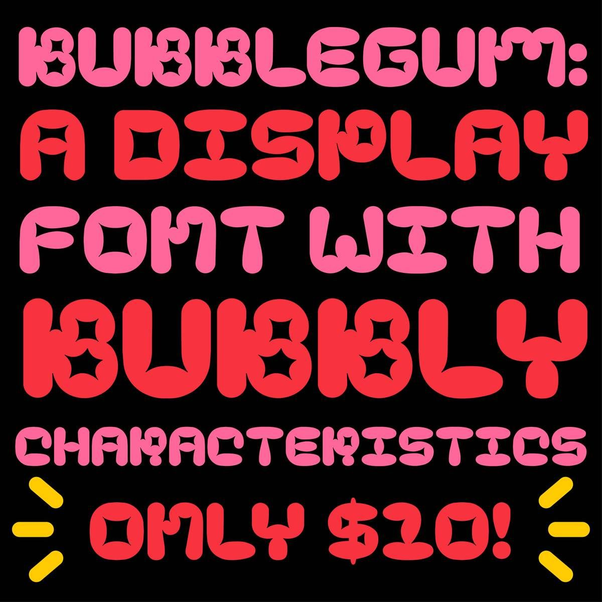A Quirky Little Display Font With A Bubbly Personality