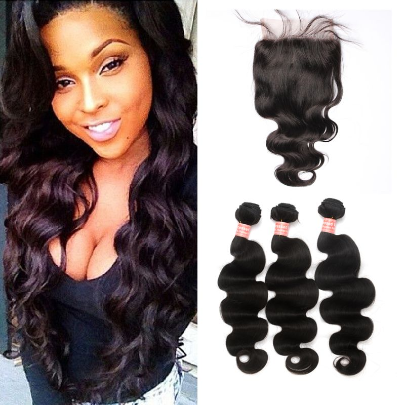 Human Hair Weaving Lace Front Sew In Closure Amazing Hairstyles