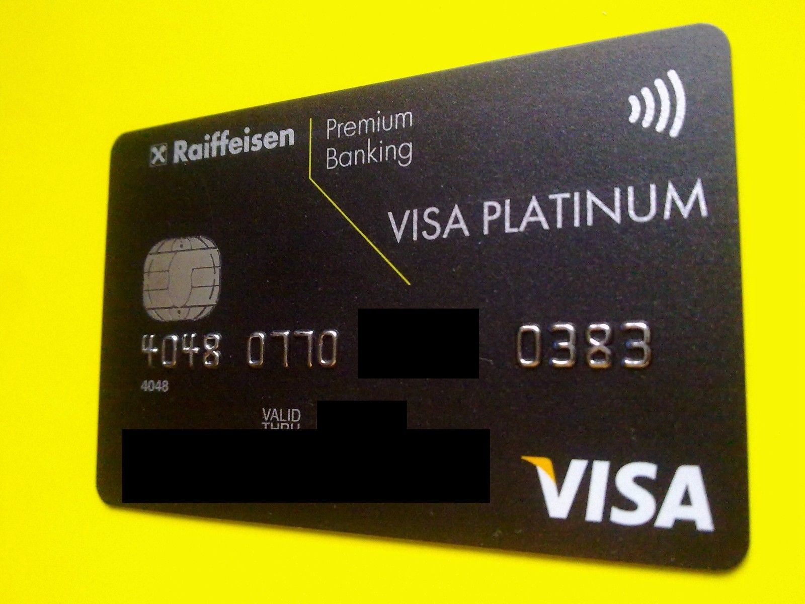 Russia Raiffeisen Bank Visa Platinum Credit Card Platinum Credit Card Visa Platinum Cards