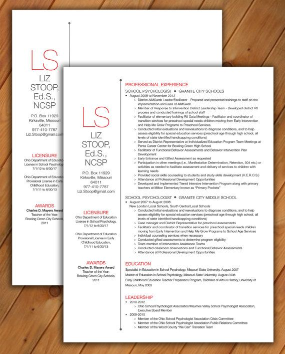 Resume And Cover Letter Template CV Template Word By Rbdesign2