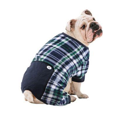 Pawslife Medium Plaid Dog Pajama In Blue Products Dog Pajamas