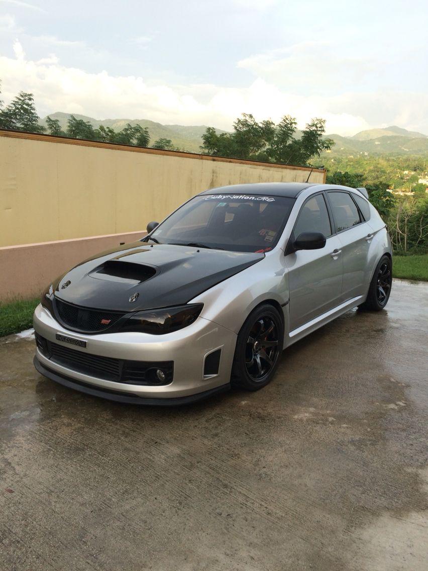 My Ride, Subaru STI 09 With Carbon Fiber Hood, Carbon Fiber Roof Spoiler,