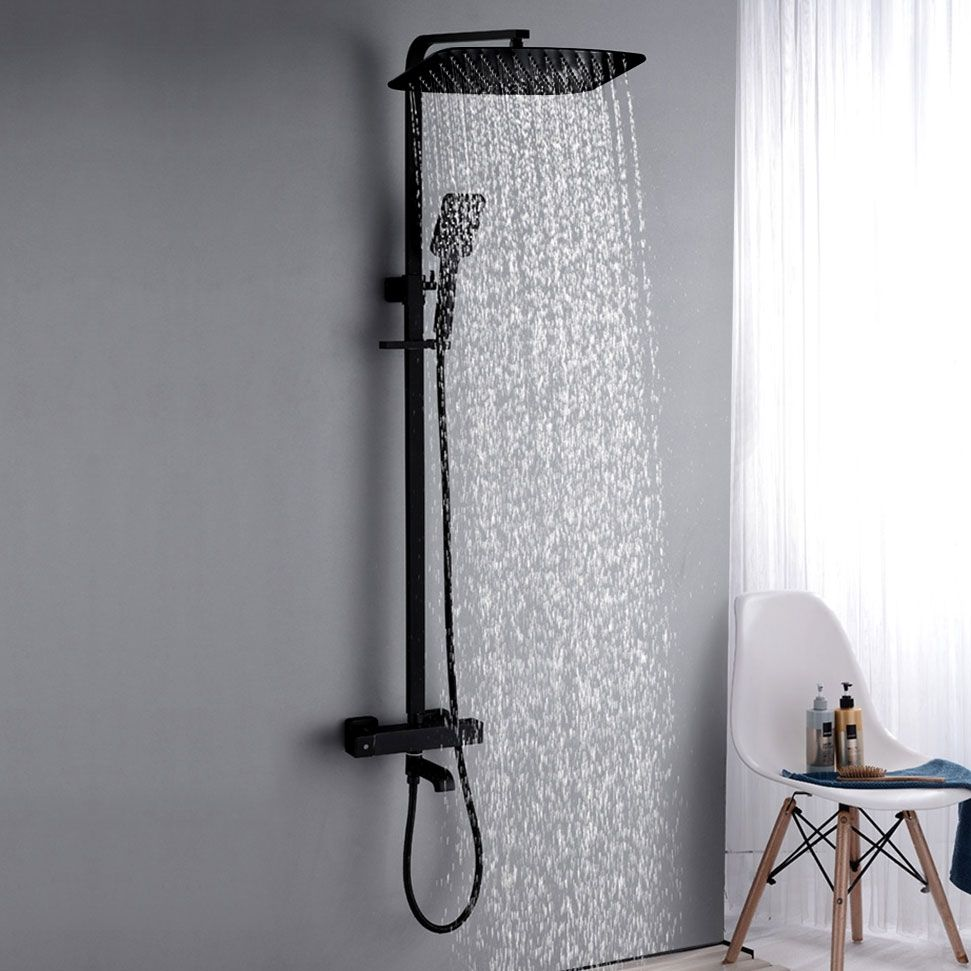 Contemporary Style Exposed Rainfall Thermostatic Shower System