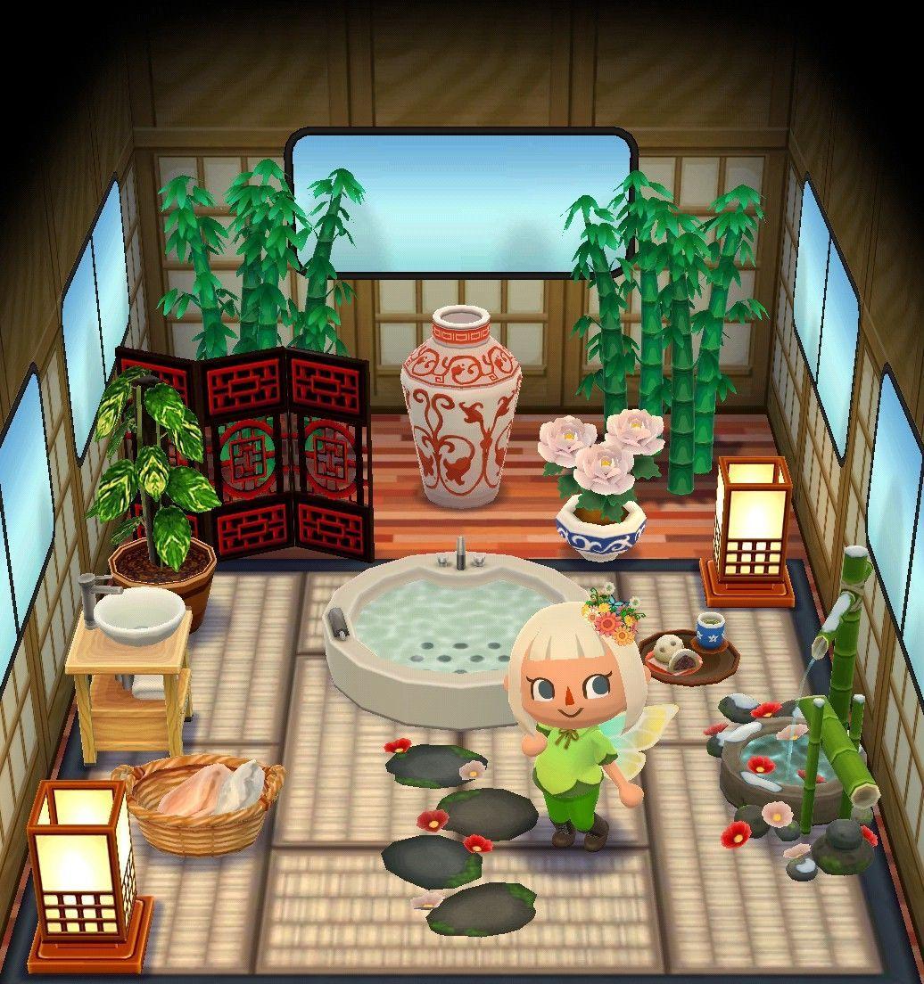 Pocket Camp Spa Camper Campsiteideas In 2020 Animal Crossing