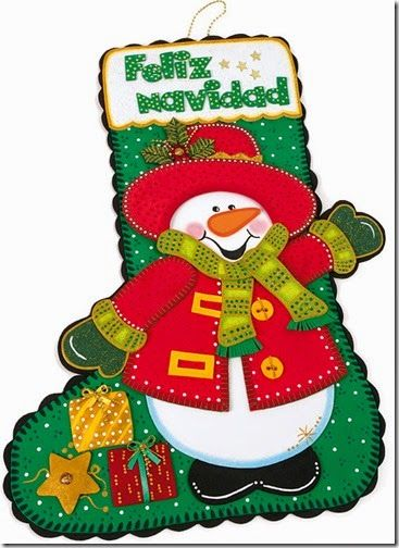 Bota feliz navidad 01 botas de navidad pinterest for Navidad adornos manualidades navidenas