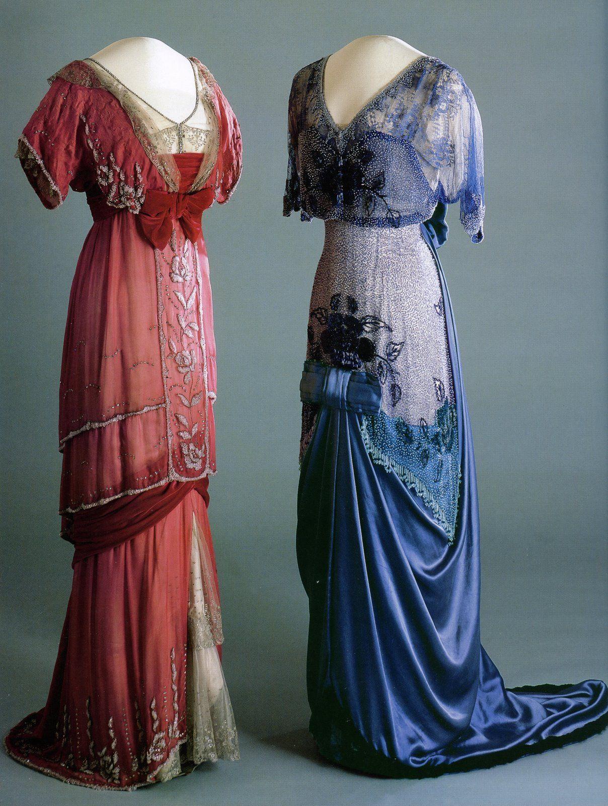 Gowns of Queen Maud of Norway, c. 1910 - 1913.