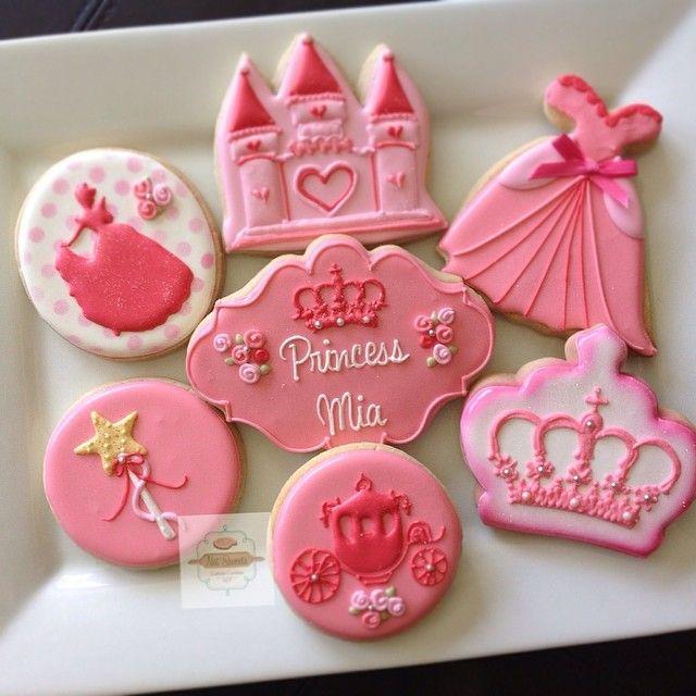 princesscookies natsweets pink castle crowns princess