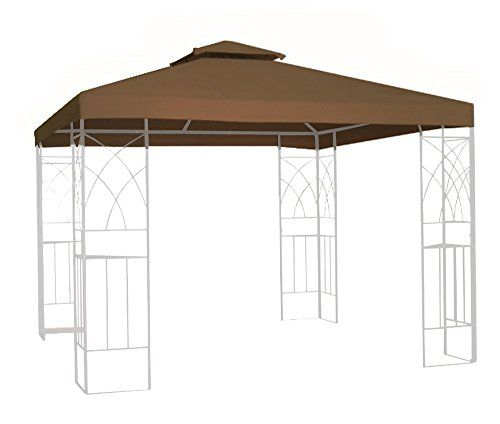 Canopies Gazebos And Pergolas Kenley 2tier 10x10 Replacement Gazebo Canopy Awning Roof Top Cover Waterproof 250g Canvas 1 Gazebo Canopy Gazebo Patio Tiles