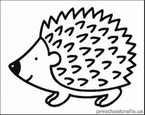 Hedgehog Coloring Pages For Kids Preschool And Kindergarten