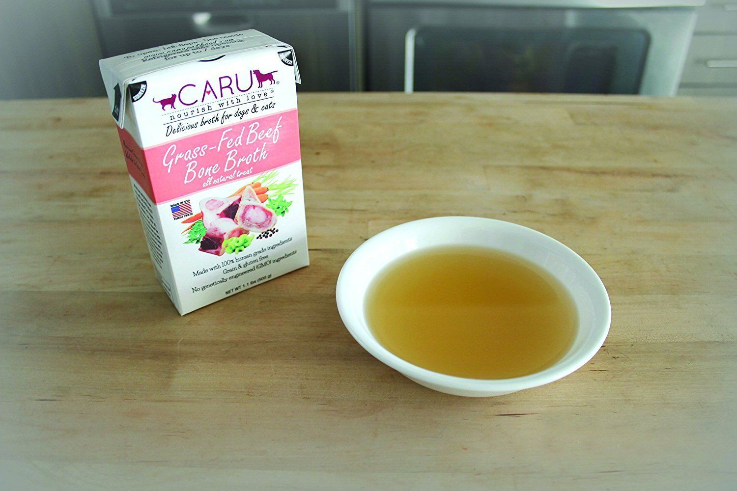 Caru GrassFed Beef Bone Broth for Dogs and Cats 17.6
