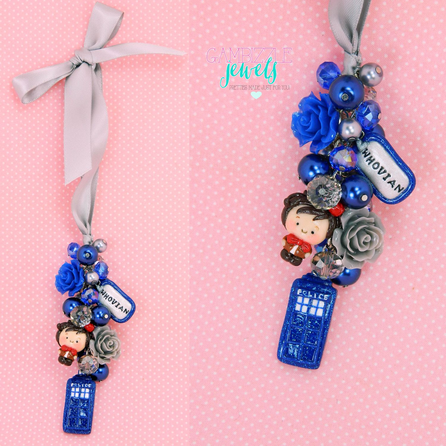 doctor who car charm, dr who themed, tardis charms, whovian, rear ...