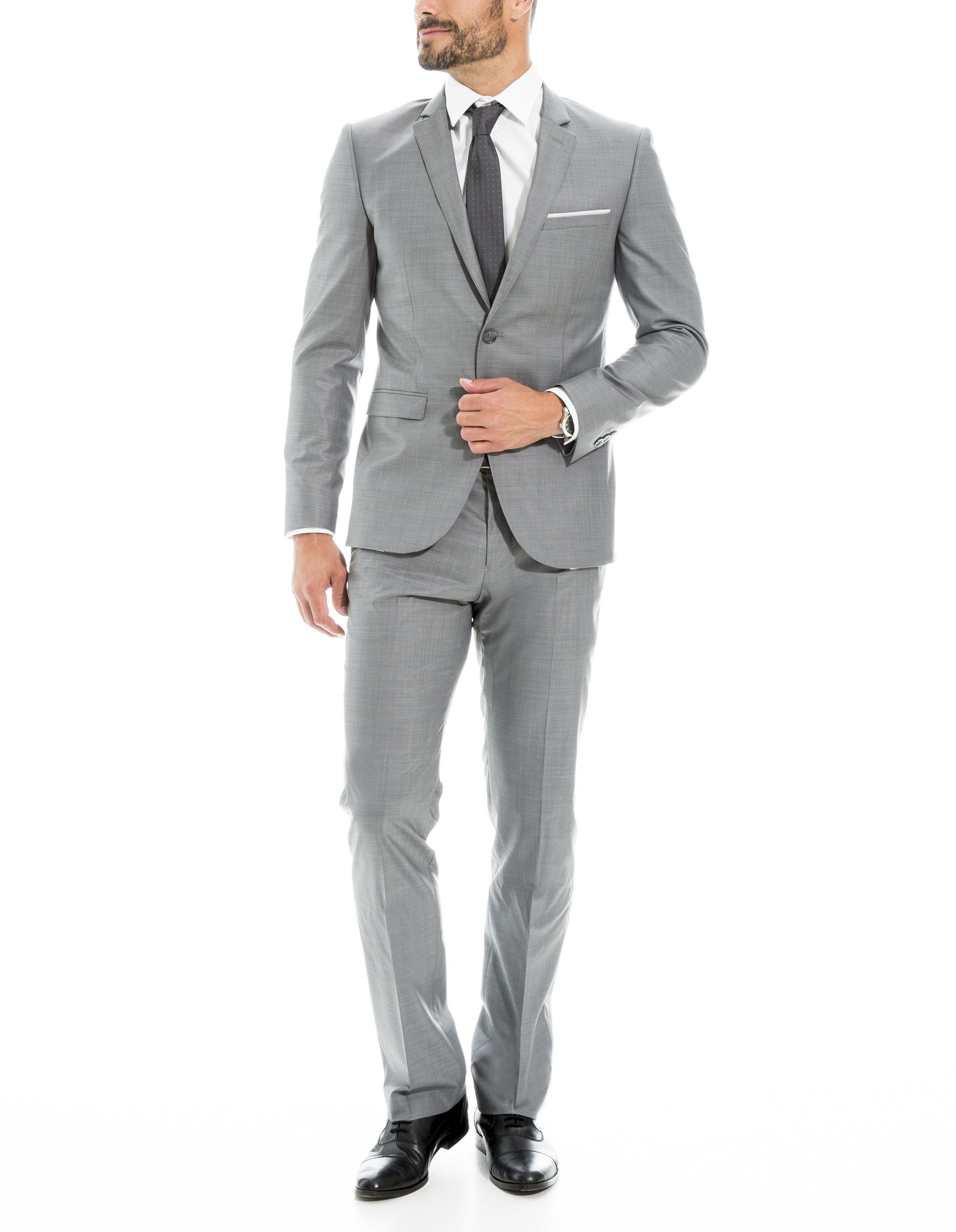 Costume gris clair, coupe regular , Costume complet Homme , Brice,FR