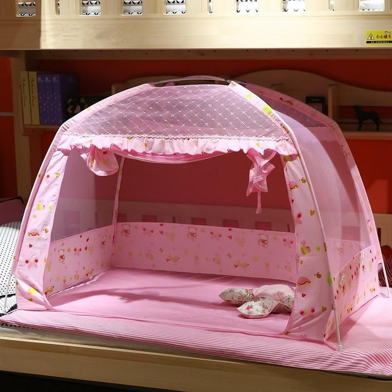 Pink Blue Summer Baby Bed Mosquito Net Folding Children Bed Mosquito Netting Portable Baby Bed Portable Baby Bed Baby Bed Canopy Kid Beds