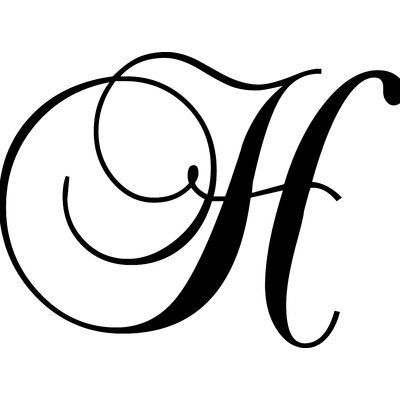 "Enchantingly Elegant Letter ""H"" Wall Decal 