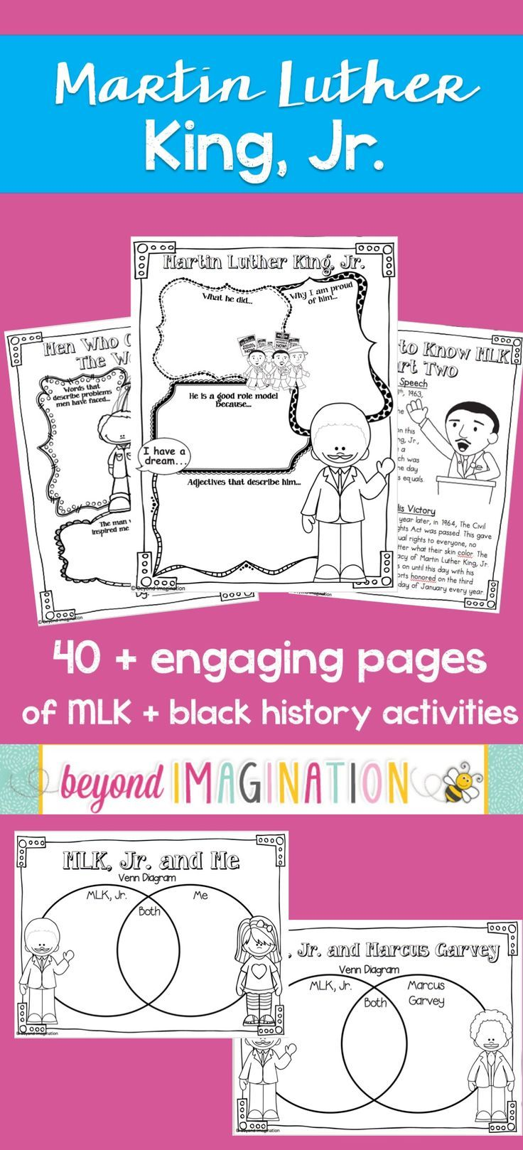 Martin luther king jr lesson activities for black history month martin luther king jr lesson activities for black history month grades 3 6 venn diagrams king jr and martin luther king ccuart Image collections