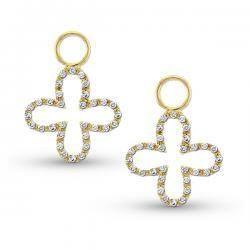 KC Designs Diamond Clover Earring Charms