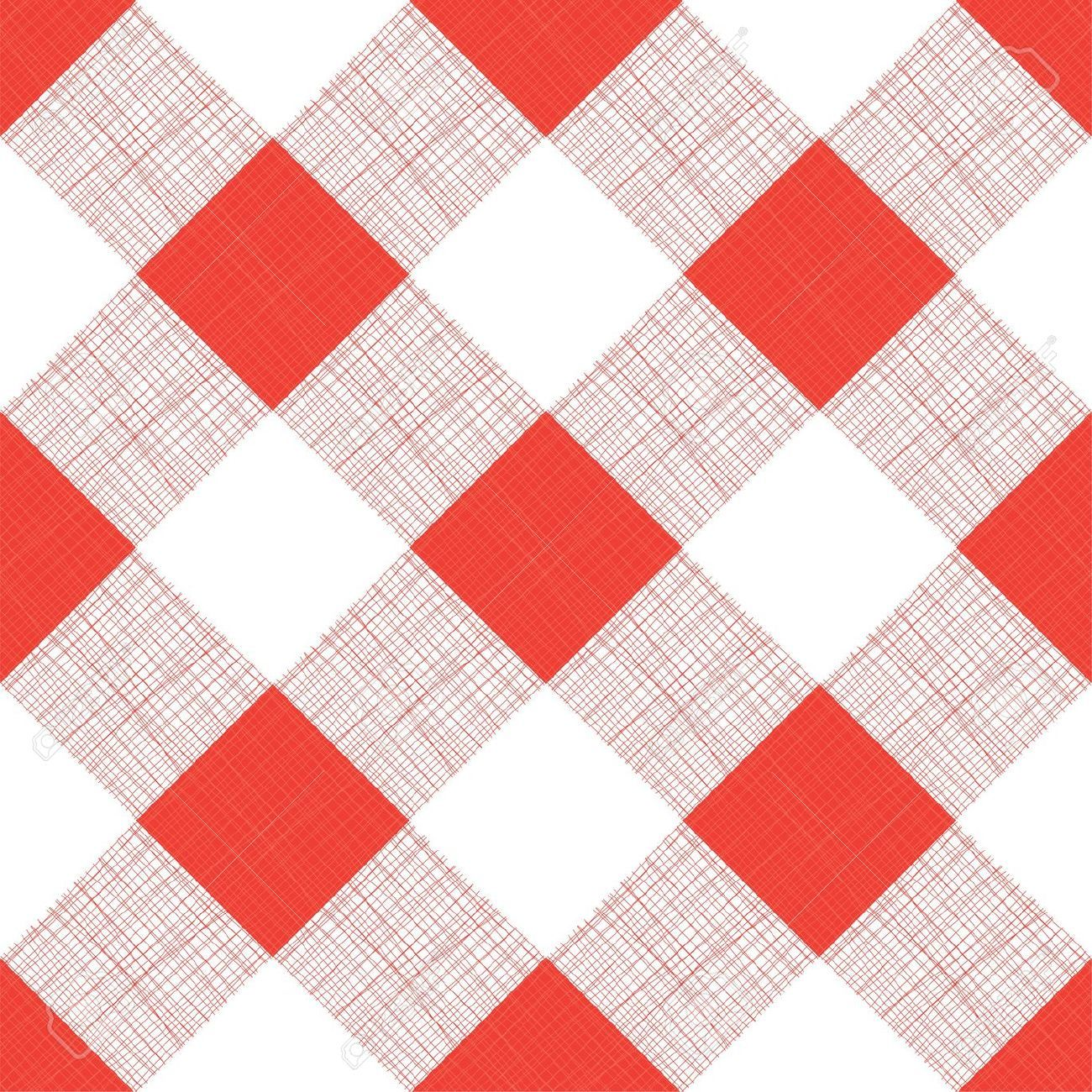 16031140 Vector Seamless Picnic Tablecloth Pattern Stock Vector
