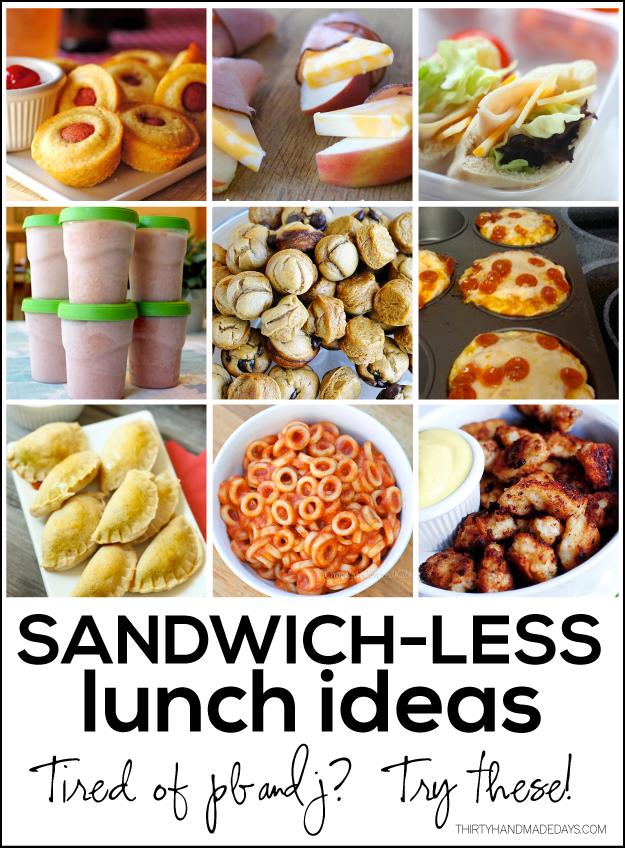 Sandwichless Lunch Ideas Kids Lunch For School Lunch Snacks Food
