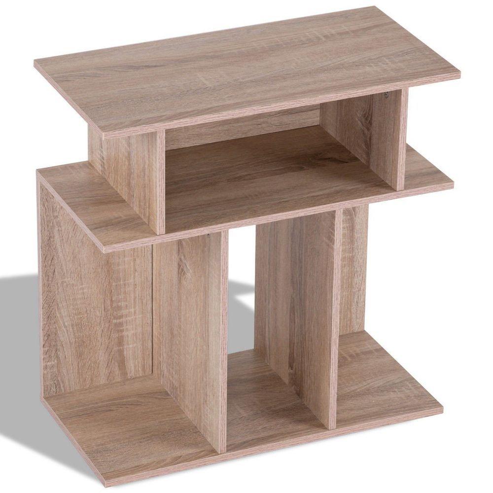 modern coffee end side table with storage shelf 63 68 end date rh pinterest com