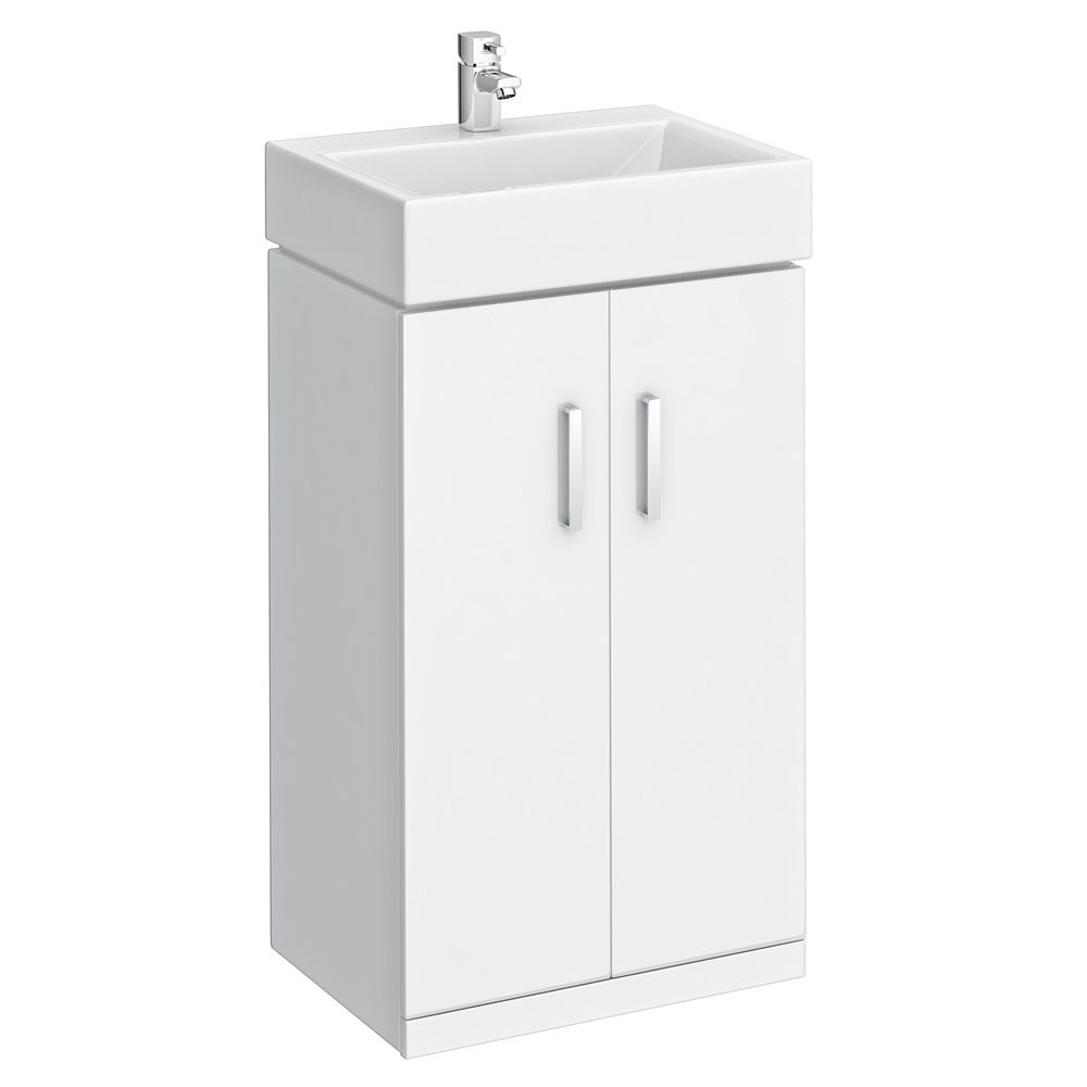 small vanity sink unit. Nova High Gloss White Floor Standing Basin Unit W450 X D320mm  VTFW450 At Victorian Plumbing Vanity SinkVanity UnitsSmall Sink With Cabinet 460mm Modern