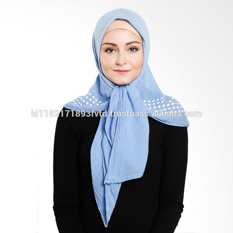 New Model Scarf Elzatta Denim Amber S Blue Hijab For The World