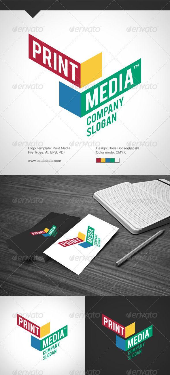 Print media abstract logo logo templates and logos print media pronofoot35fo Image collections