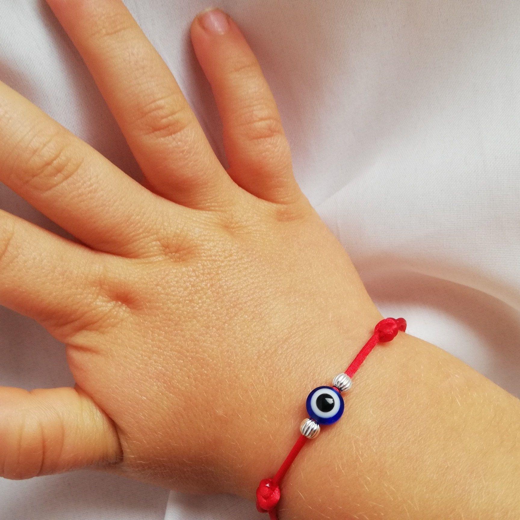 Amulet Red String Kabbalah Red Bracelet Lucky Eye Bracelet Red Bracelet Blue Evil Eye Red String Protection Bracelet