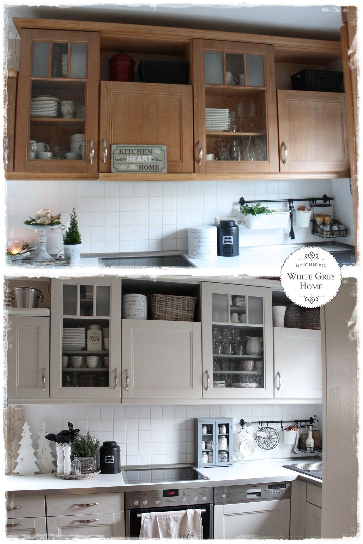Vorher Nacher In Der Landhausküche Www Whitegreyhome Blogspot De Haus Küchen Landhausküche Küche Renovieren