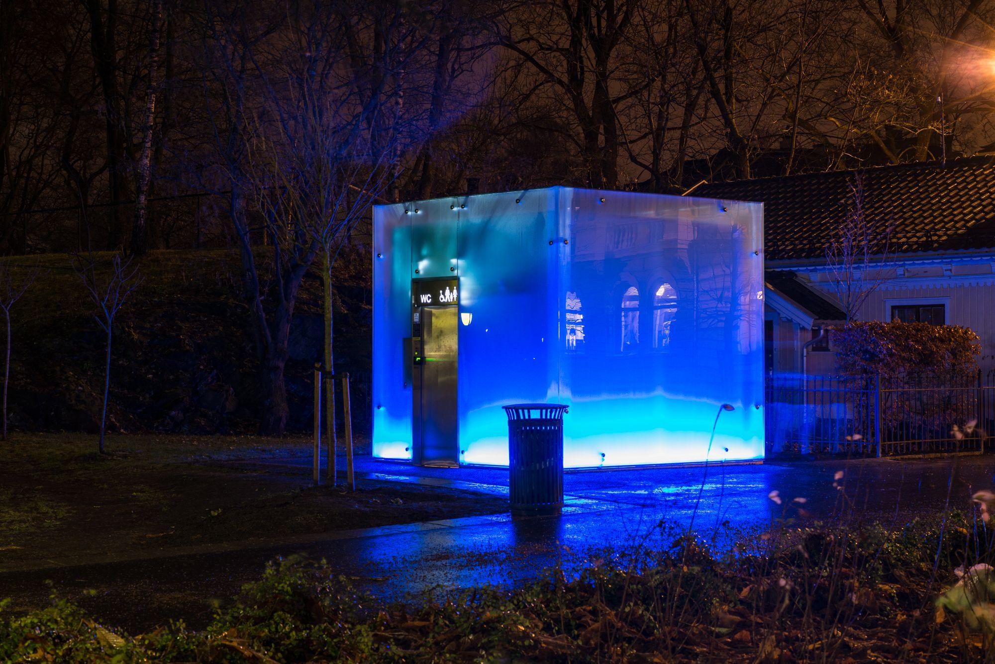 Det blå toalettet