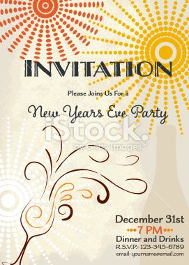 new year s eve party invitation template royalty free stock vector